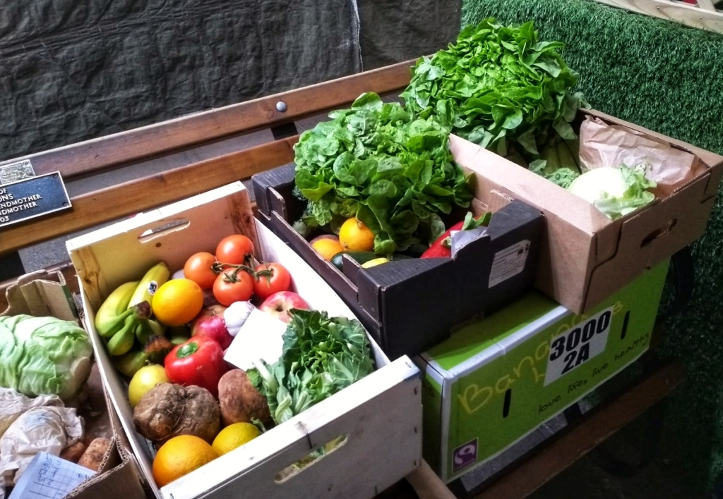 Boxes of fresh, organically-grown vegetables available for home delivery in the Shrewsbury and Craven Arms areas of Shropshire